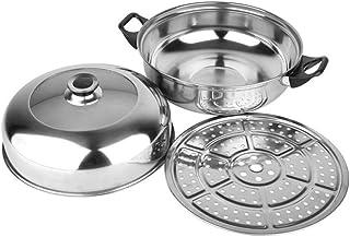 DGDHSIKG Olla de sopa Vaporizador de doble capa de acero inoxidable Olla de sopa multifuncional para cocinas de gas Olla de cocina, D