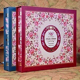 Generic Plum : 50Pockets High-Capacity Luxury Photo Album 3R 5inch 7inch Interleaf Type Family Baby Photos Album Fotos Album