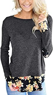 Sceoyche Womens Long Sleeve Cotton Linen Kaftan Ladies Baggy Blouse Tee Shirt Tops S-5XL