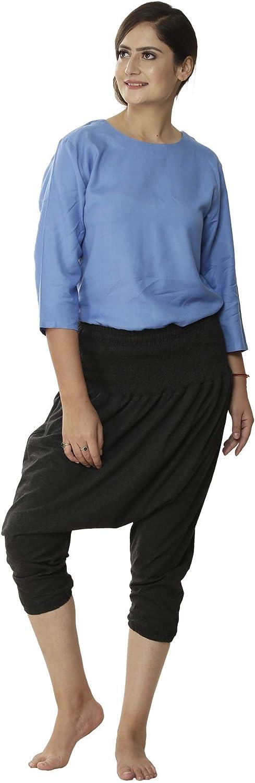 Ahikah Organic Cotton セールSALE%OFF Yoga Wear Length Waist (人気激安) Harem-Hy Short High