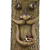 Bits and Pieces - Baumgesicht Vogelfutterstation - Baumhänger, Futterspender -Gartendeko und Futterstelle in einem
