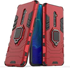 FanTing Case for Oppo Reno 10x zoom, Rugged and shockproof,with mobile phone holder, Cover for Oppo Reno 10x zoom-Red
