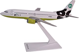 GO Fly Boeing 737-300 Airplane Miniature Model Plastic Snap Fit 1:200 Part# ABO-73730H-018