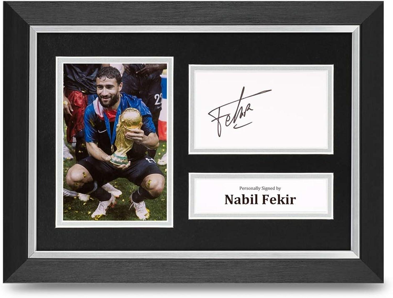 Nabil Fekir Signed A4 Framed Photo Display France Autograph Memorabilia COA