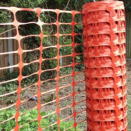 True Products b1003C Standard-Schutznetz aus Kunststoff, Rolle, Orange, 4kg 1m x 50m - 2