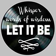 Let It Be Song lyric Art inspired by The Beatles Vinyl Record Album Wall Decor