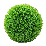 HAOJON Bola de Hierba de eucalipto de simulación, Bola de plástico, Bola de Hierba Falsa, florero colocado, decoración de Planta Verde, Bola Colgante, 60 CM