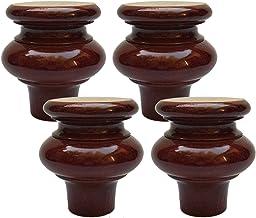 WYBW Meubelondersteuning Voeten, Houten meubels benen, Solid kalebas Vorm Keukenmeubilair Voeten, Vervanging Koffietafel P...