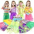Teuevayl Little Girl Dress up Trunk Set, 20PCS Girls…