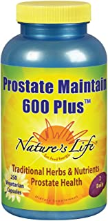 Nature's Life Prostate Maintain 600 Plus Formula for Men | L-Glutamic Acid, L-Alanine, Glycine & Saw Palmetto, Pumpkin See...