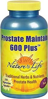 Nature's Life Prostate Maintain 600 Plus Formula for Men | L-Glutamic Acid, L-Alanine, Glycine & Saw Palmetto, Pumpkin Seed & Pygeum Bark | 250 CT
