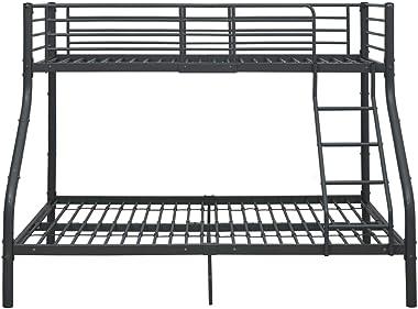 Bigto Cadre de lit superposé en métal Noir 140 x 200 cm/90 x 200 cm