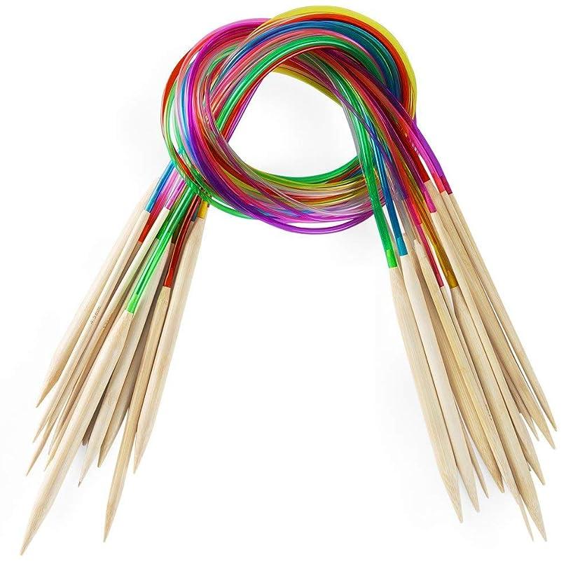 SUKRAGRAHA 18 Sizes Bamboo Knitting Needles Set Weave 2.0mm to 10.0mm