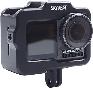Skyreat Osmo Action Vlog Jaula de protección Soporte de Aluminio Carcasa Protectora con Zapata fría para dji Osmo Action Accesorios