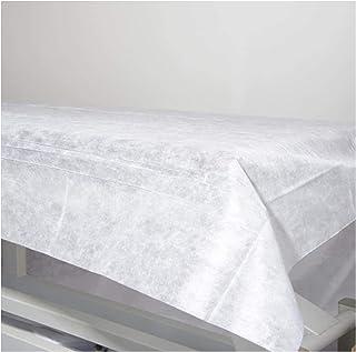 Sábanas Desechables NO Ajustables de NO Tejido 100% Reciclables de 80X200. Impermeable e Hipoalergénico. Ideal para camas, camillas de masaje, cama hospital. Fabricado en España. (10)
