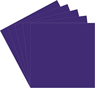 "5 Purple Oracal 651 Vinyl Sheets, 12""x12"" Purple Permanent Adhesive Backed Vinyl Sheets for Indoor/Outdoor Lettering, Marking, Decorating, Car Decals, Window Graphics, Work with Cricut, Silhouette"