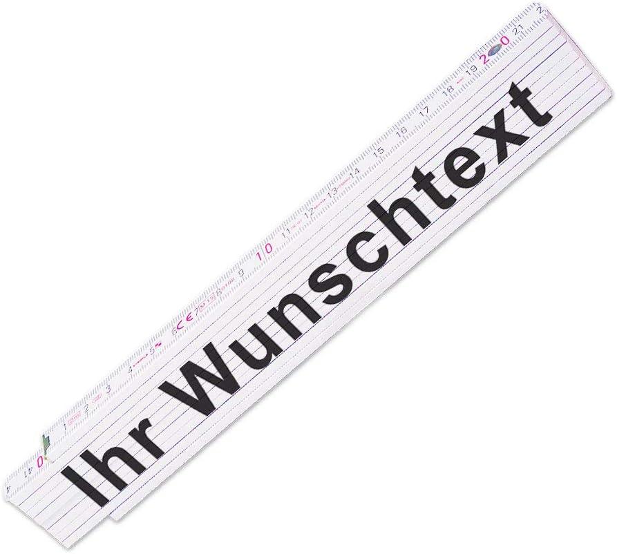 Glieder-Ma/ßstab mit Firmen-Logo oder Bild und Wunsch-Text Zollstock personalisiert Meterstab individuell bedruckt