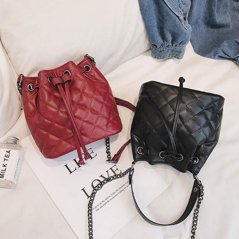 HKDUC Marke Marke Marke Stil Eimer Taschen Berühmte Marken Frauen Handtaschen Mode Umhängetasche Diamantgitter Kette Tasche Hauptdame B07Q5X99ZX  Modernes Design 9e22ce