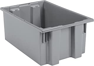 Akro-Mils, 35190GREY, Nest And Stack Container, 19-1/2 In, Gray