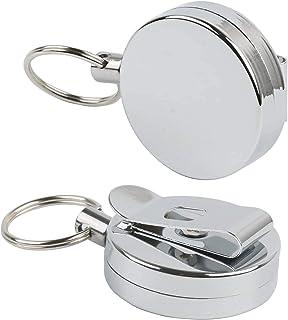 2 Pièces Enrouleur Badge - Porte-Badge Enrouleur Clés de Sécurité avec Cordon Rétractable Très Résistant pour Clip de Cein...