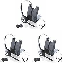 Jabra 920 Wireless Headset with Polycom EHS Remote Answerer for Select Polycom Phones   3pk Bundle Special  