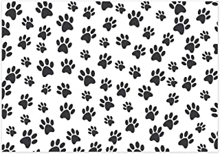 Allenjoy 7x5ft Puppy Dog Cartoon Paw Backdrop for Boys Birthday Decor Pets Party Banner Kids Photography Background Cake Table Banner Photobooth Props