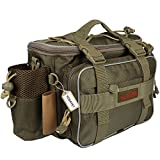 Yogayet Portable Outdoor Fishing Tackle Bag Multifunctional Lure Waist Fanny Pack Water-Resistant Soft Sided Shoulder Carry Strap Storage Green