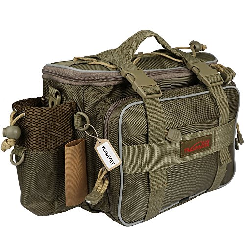 YOGAYET Portable Outdoor Fishing Tackle Bag Multifunctional Lure Waist Fanny Pack Water-Resistant...