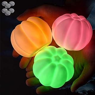 Bath Toys 10 Packs, Light Up Mini Pumpkin Baby Shower Flashing Color Changing Light, Floating Light Battery LED Night Ligh...