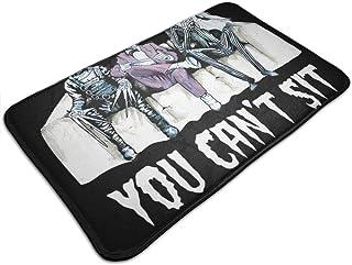 HUTTGIGH You Cant Sit With Us Tim Burton - Alfombrilla antideslizante para puerta de baño, alfombra de cocina, 49,5 x 80 c...
