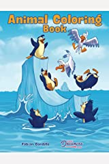 Animal Coloring Book: Kids Coloring Book Ages 4-8, 9-12 Paperback