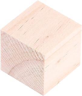 木製ブロック ウッドキューブ 10個 25ミリメートル ナチュラルウッドスク 天然木 エアブロック キューブウッドワーククラフト アクセサリー