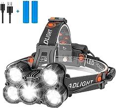 Eletorot Hoofd Zaklamp USB Oplaadbare Koplamp Super Heldere 1000 Lumen Zoomable Koplamp met 4 Werkmodi Lichtgewicht Waterd...