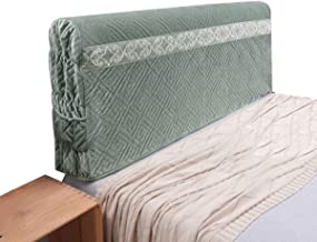 Bed Head Cover Headboard Slipcover for Bedroom Pure Color Comfortable Back Cover Protector Elegant Cover (Color : Green, S...