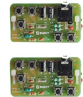 Gikfun Wireless Stereo FM Radio Receiver Module PCB Soldering Practice Kit Welding DIY for Arduino (Pack of 2 Sets) EK1956