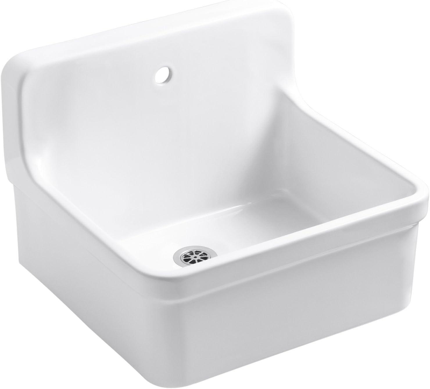 Kohler K-12784-0 Gilford Scrub-Up Plaster Sink Regular store with Outlet ☆ Free Shipping Single-Hole