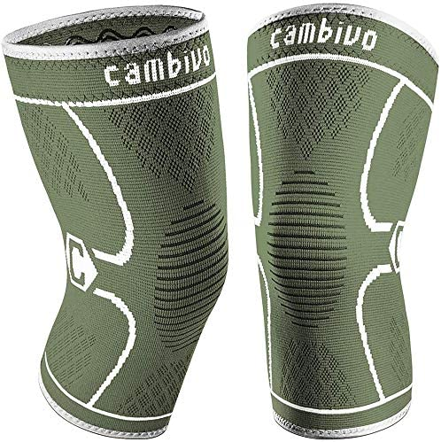 CAMBIVO 2 Pack Knee Brace Knee Compression Sleeve for Men and Women Knee Support for Running product image