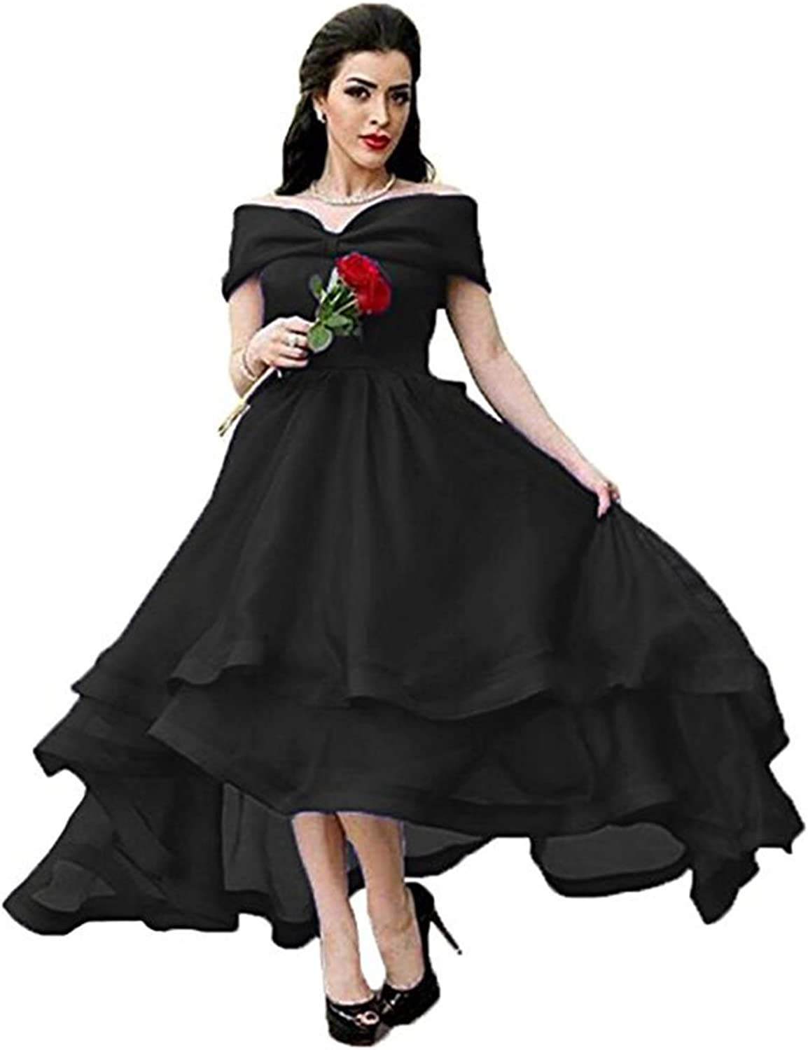 Beautydress Womens Ankle Length Prom Dress Off The Shoulder Layered Party Gown