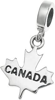 925 Sterling Silver World Travel Tourist Bead for European Charm Bracelet