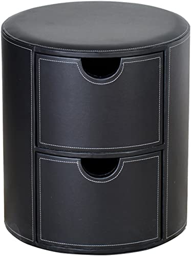 barato DLDL Taburete de de de almacenaje de almacenaje Creativo Simple de Cuero cajón (Color   negro)  venta al por mayor barato