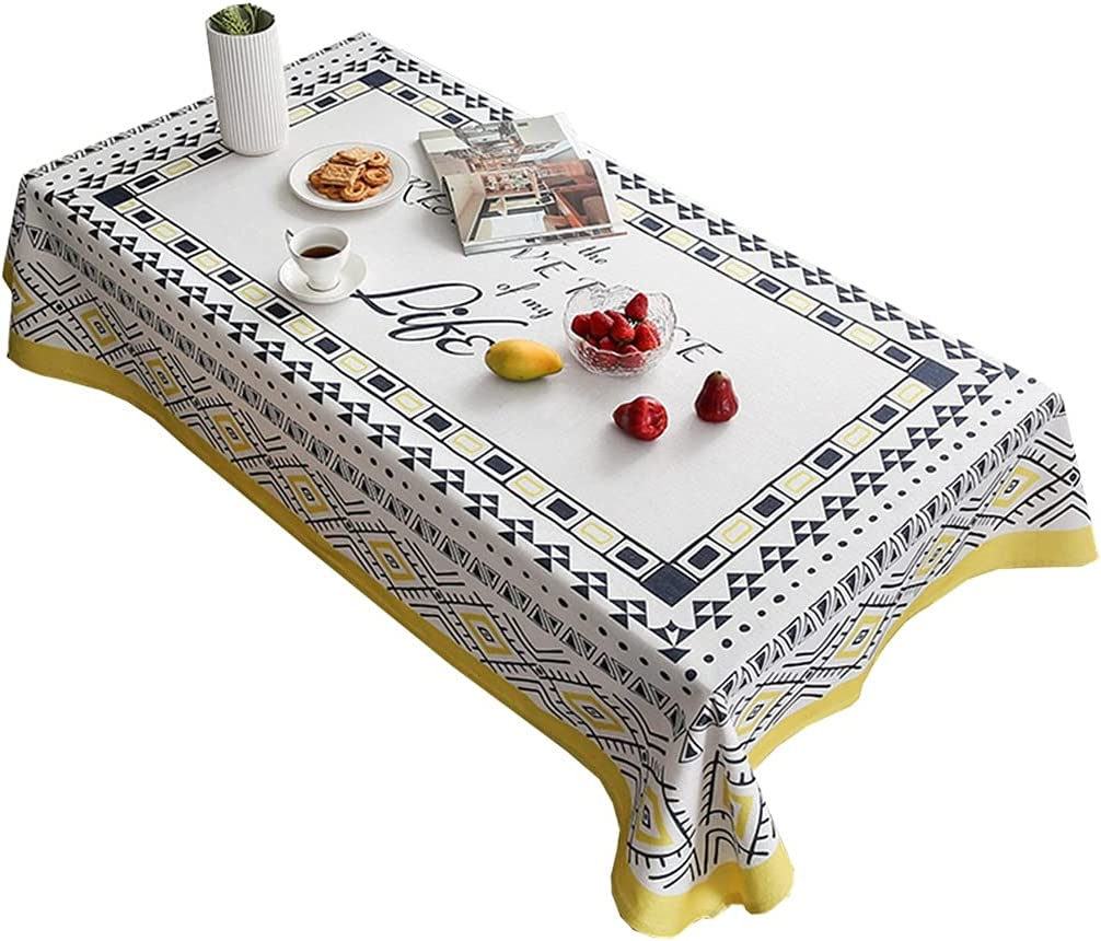 Limited price sale Table Cloths Waterproof Wrinkle-Resistant Rectangle 5 ☆ popular Tablecloths