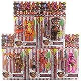 qhyzrv 5 Unids / Set Five Nights At Freddys Figura De Acción De Juguete FNAF Bonnie Foxy Fazbear Bear Pop Figura Muñecas Juguetes DIY Montaje Figuras De Acción