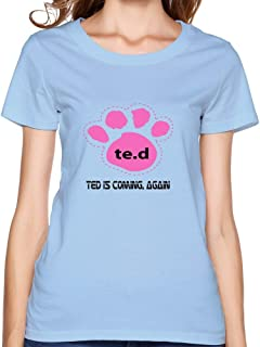 Womens Customized Ring Spun Cotton Tee Shirts/2015 Ted 2
