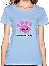 Womens Customized Ring Spun Cotton Tee Shirts/2015 Ted 2