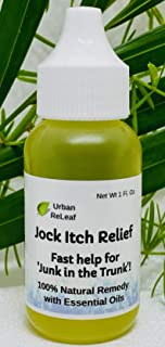 Urban ReLeaf Jock Itch Relief ! Fast Help for 'Junk in The Trunk', Stop Itching, Fade Redness, Powerful Essential Oils, 10...