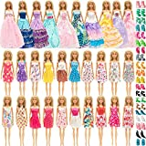 SOTOGO Doll Clothes and Accessories for 11.5 Inch Girl Doll Fashion Include 30 Sets Handmade Fashion Dresses/Wedding Dresses/Party Gown Outfit and 20 Pairs Shoes