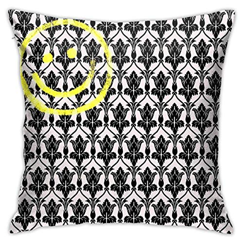 Sherlock Wallpaper Bedroom Couch Sofa Throw Pillow Covers Home Decorative Square Pillow Case 18x18 Inch