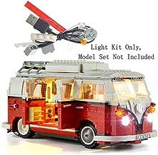 HZQM LED Lighting Kit for Creator Expert Volkswagen T1 Camper Van - Compatible with VW Bus 10220 Lego Model (Lego Set Not Included)