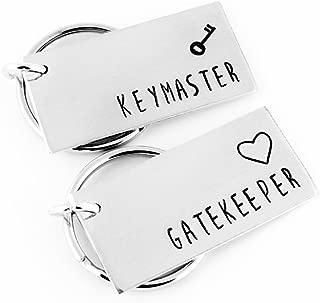 Keymaster & Gatekeeper Keychain Set - Nerd Gift - Couples Gift Set - Aluminum Key Chains