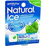 Mentholatum Natural Ice Lip Balm Original SPF 15 1 Each ( Pack of 12)
